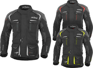 Reduit-Buse-Trento-Hommes-Blouson-Moto-Impermeable-Touring-Doublure-Thermique