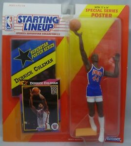 1992  DERRICK COLEMAN- Starting Lineup - SLU - Figurine - New Jersey Nets
