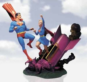 SUPERMAN & SUPERGIRL~STATUE~LE 2000~SILVER AGE~ACTION COMICS #252~DC DIRECT~MIB