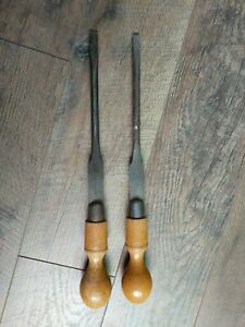 2-Vintage-W-H-Clay-Ltd-Sheffield-Cabinet-Makers-Screwdrivers-England-16-034-X1-2-034