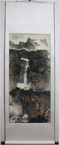 Excellent-Chinese-Hanging-Painting-amp-Scroll-Landscape-By-Zhang-Daqian-AL8206