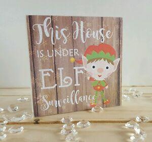 Cette-maison-est-sous-elf-surveillance-mini-baignoir-plaque-christmas-decor
