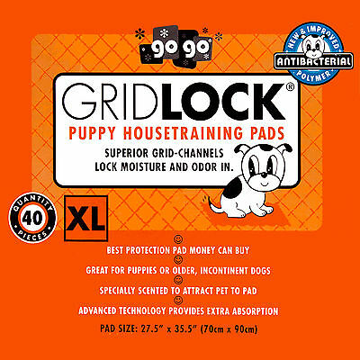 Gridlock XL Dog Puppy Pads Large Training Pads 27.5 x 35.5 HUGE PADS