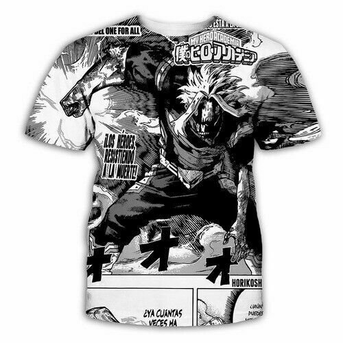 Women Men T-Shirt 3D Print My Hero Academia Cosplay Short Sleeve Tee Tops Unisex