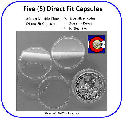 Cleopatra 5 Direct Fit Capsules for 2oz Silver Privateer Grand Canyon Rounds