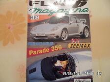 FLAT 6 N°64 JUIN 1996 911 ZEEMAX PARADE 356 Tour auto en targa     E12