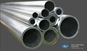 L/änge 350mm 35cm auf Zuschnitt Aluminium Rundrohr AlMgSi05 /Ø 30x2mm