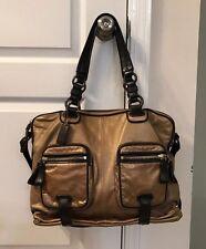 Coach Ltd Ed Cambridge Gold Leather Shoulder Bag/Tote Zip #14083 RARE/HTF LARGE