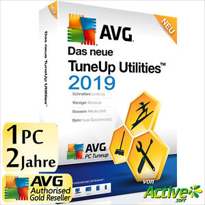 TuneUp Utilities 2019 1 PC 2 Jahre Vollversion AVG PC TuneUp Tune Up 2018 DE NEU