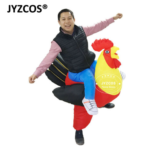 Rooster Costume Adult Chicken Inflatable Blow Up Suit Party Gift Cosplay Outfit
