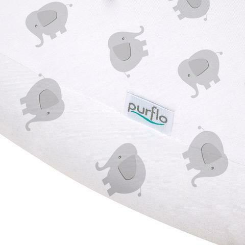 PurFlo PURAIR Grossesse Soutien Oreiller couverture éléphant bébé sommeil BN