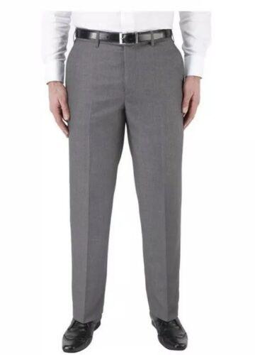 extra alto Skopes Cipro Piatto Frontale Pantaloni Grigio MM7444 NUOVO con etichetta 44XT