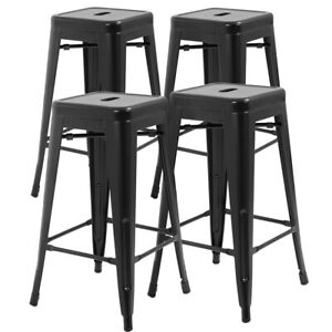 Swell Details About New Counter Height Bar Stools Set Of 4 Stackable Barstools Patio Furniture Gmtry Best Dining Table And Chair Ideas Images Gmtryco