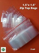 15 X 15 Clear Zip Seal Lock Top Plastic Bags 2mil Jewelry Pill Small Mini