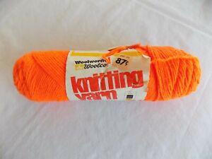 Flame-Woolworth-Woolco-Knitting-Yarn-4-oz-Skein-4-ply-100-Acrilan-Acrylic