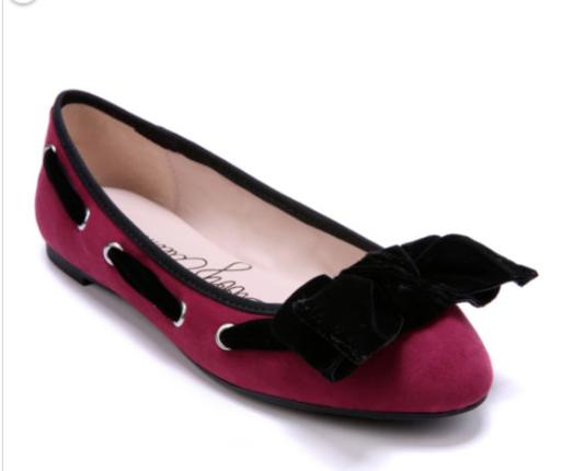 Lindo Para Mujer Ballet Zapatos sin Taco Sin Libby Edelman Edelman Edelman Color arándano arco acento  buena calidad