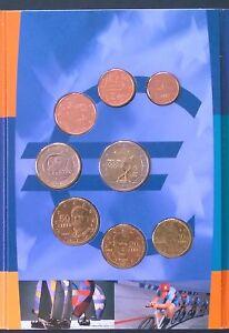 Griekenland Olympic set 2004 1 ct t/m €1 2002 + €2 Olympische spelen Athene 2004