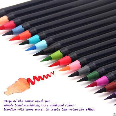 20 Colors Painting Soft Brush Watercolor Drawing Painting Brush Art Pen Set GH