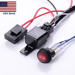 12v 40a led work fog light bar wiring harness relay kit onoff image is loading 12v 40a led work fog light bar wiring aloadofball Gallery