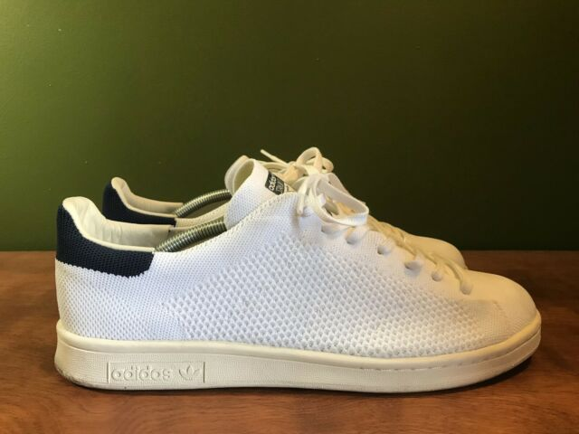 Adidas Stan Smith OG PK Primeknit Originals White Blue S75148 Size 10.5