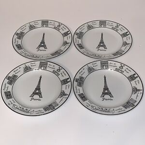 222-FIFTH-Around-the-City-Paris-Set-of-4-Appetizer-Plate-6-1-2-Round