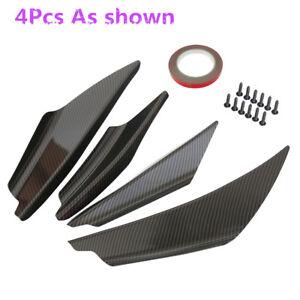 4Pcs-Carbon-Fiber-Look-Design-Front-Bumper-Lip-Splitter-Spoiler-Deflector-Wings