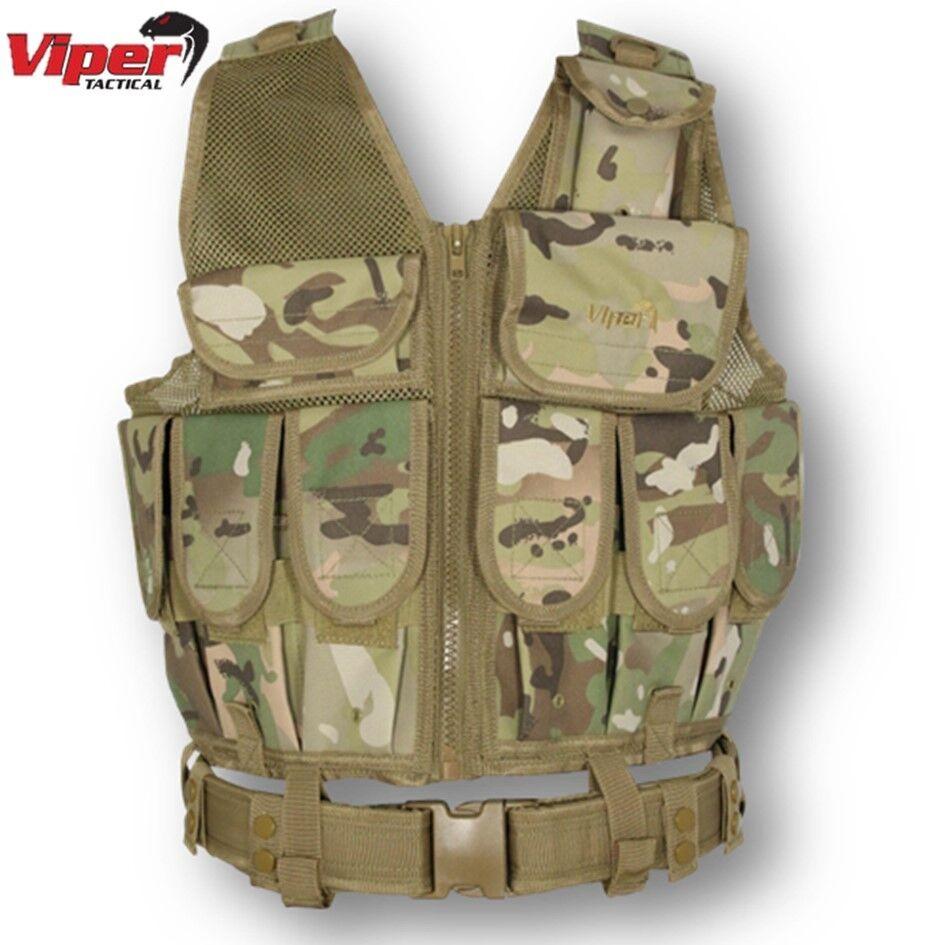 Viper L ein Spezialeinheit Weste Camo Airsoft Paintball Airsoft Camo Combat Tactical Gurtband 0d6d46