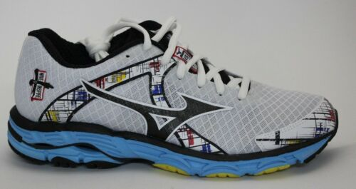Women's Mizuno Wave Inspire 10 Running Shoes White/Black/Blue  410576.0090 New!!