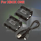 2x Rechargeable Battery Pack for Xbox One Wireless Controller + USB Cable
