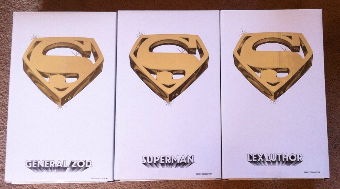 Superman Movie Master Piece Collection Complete Set General Zod Lex Luthar New
