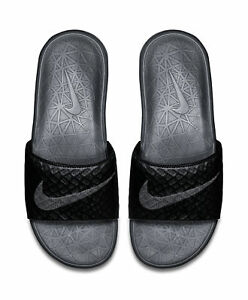 238bf0e04010 Nike Men Sandals Benassi Solarsoft Comfort Slip on Slides Anthracite ...