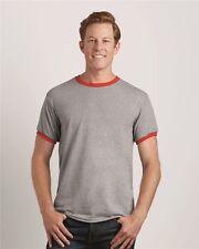 25 Blank Gildan DryBlend Ringer T-Shirt Wholesale Bulk Lot ok to mix S-XL Colors