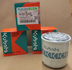 3-PACK-KUBOTA-OIL-FILTER-HH150-32430-REPLACES-OLD-70000-15241-GRASSHOPPER-100800