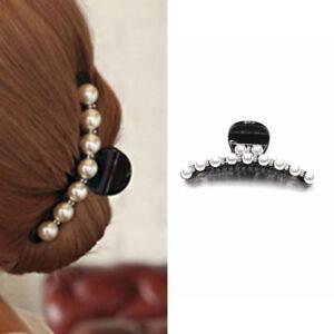 Epingle-A-Cheveux-Griffe-Gripper-Clip-Simulation-Perle-Cristal-Barrettes-Bijoux