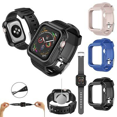Rugged Protective Case Cover With Wrist Strap For Apple Watch Series 4 5 40 44mm Ebay