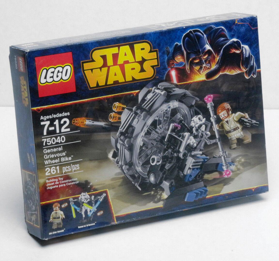 LEGO stjärnornas krig General Grievous hjul cykel 75040 Obi Wan Kenobi NY avbruten