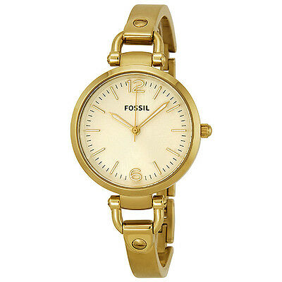 Fossil Georgia Champagne Dial Gold-tone Ladies Watch ES3084