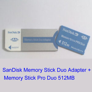 512Mb Duo adaptador-PSP-Sony Cybershot Cámara Sony Tarjeta de Memoria Stick Pro Duo