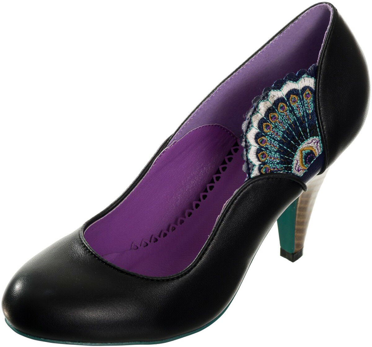 # Dancing Pumps Days Sway VINTAGE Peacock pavoni maschi MOLLA Pumps Dancing Tacco Alto Rockabilly 7913a5