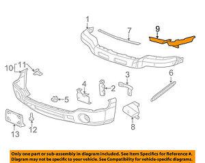 gmc gm oem 03 06 sierra 2500 hd front bumper outer filler left