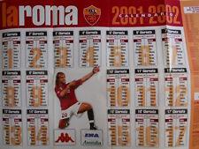 Poster Roma Calcio 2001 Calendario 2001-2002 Batistuta  [GS4-9]