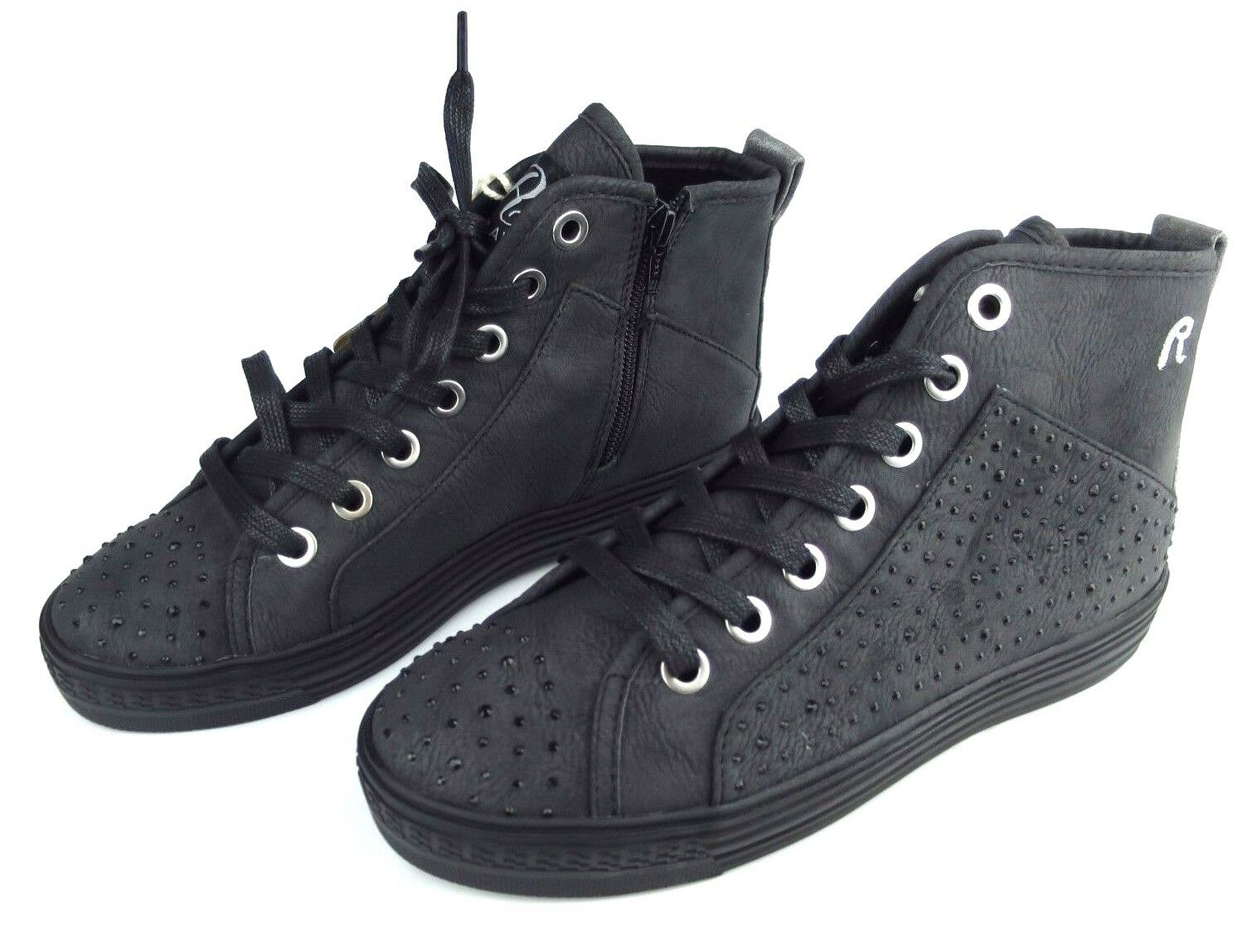 Replay Baskets maypo femmes chaussures Fille bottes femme bottes noir Neuf