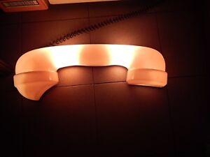 Plafoniere Per Neon Vintage : Rara plafoniera lampada insegna luminosa telefono phone vintage old