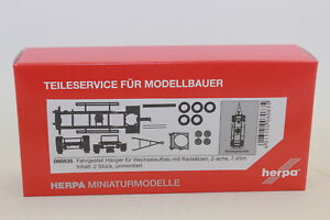 Herpa 080835 Hängerfahrgest<wbr/>ell für Wechselaufbau mit Radsätzen 7,45m 1:87 NEU