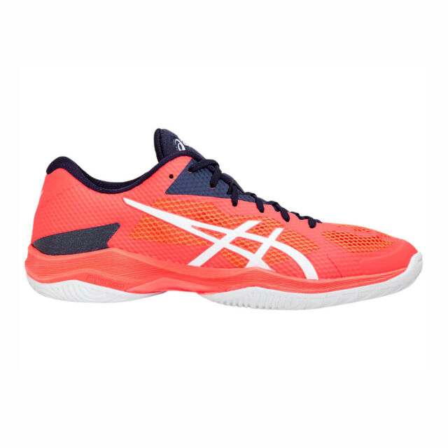 Asics V Swift FF [TVR492 0601] Men Volleyball Shoes Flash CoralNavy White