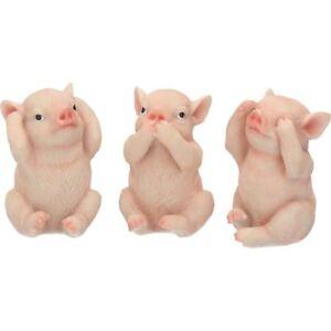 Action Figures Three Wise Piggies Figurines