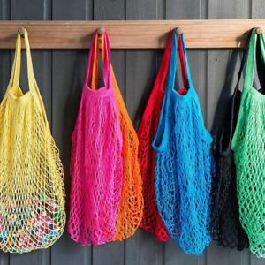 Image Is Loading Grocery Beach Tote Storage Bag String Woven Mesh