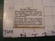 vintage TRICK/GAG/JOKE, 1950's: ADAMS' SMOKIE CIGARETTES 1954 SEALED UNUSED #2