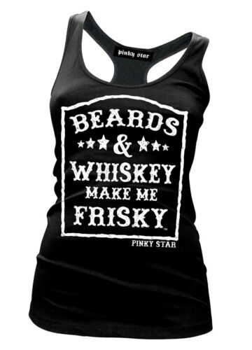 Happy Hour Tank by Pinky Star Alcohol Beards And Whiskey Make Me Frisky