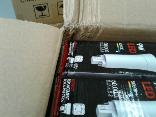 Ballast Required 4000K G24Q SATCO 9W Pin Lamp Stick Vertical